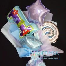 Крафтовый букет из шаров На 1 год мальчику