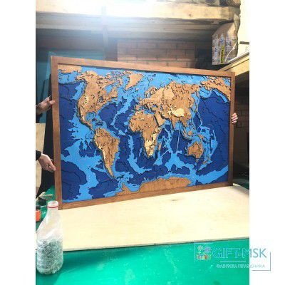 Батимитрическая карта мира