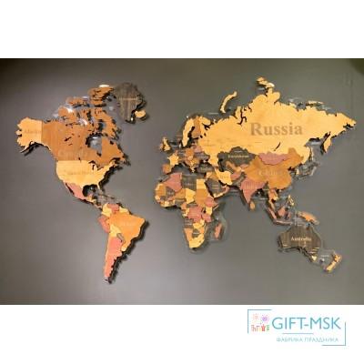 Многоуровневая карта мира