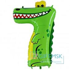 Воздушный шар цифра 7 Крокодил