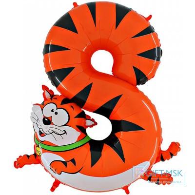 Воздушный шар цифра 8 Кот