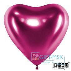 Сердца хром Фиолетовые