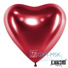 Сердца хром Розовые