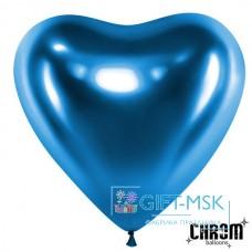 Сердца хром Синие