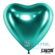 Сердца хром Зеленые