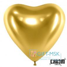 Сердца хром Золото