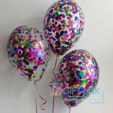 Прозрачные шары с конфетти Ассорти