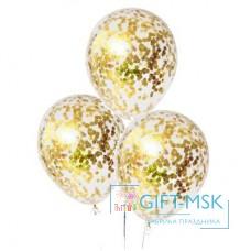 Прозрачные шары с конфетти Золото