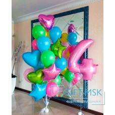 Сет из шаров на день рождения для девочки