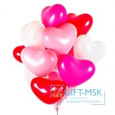 Воздушные шары Сердца Микс