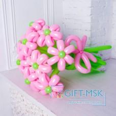 Букет из розовых ромашек